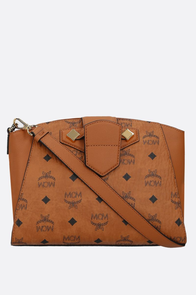 MCM: Essential small coated canvas crossbody bag Color Brown_1