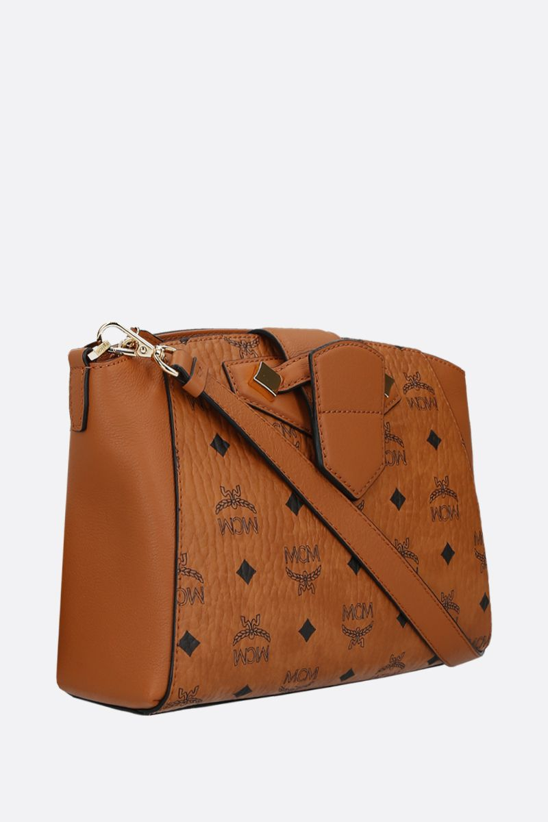 MCM: Essential small coated canvas crossbody bag Color Brown_2