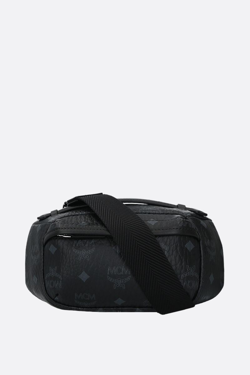 MCM: coated canvas belt bag Color Black_1