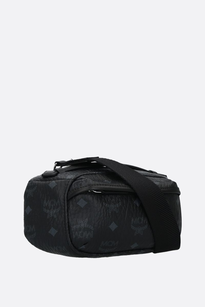 MCM: coated canvas belt bag Color Black_2