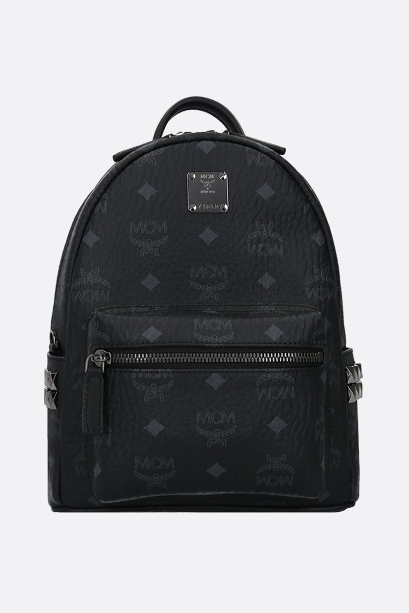 MCM: Stark mini coated canvas backpack Color Black_1