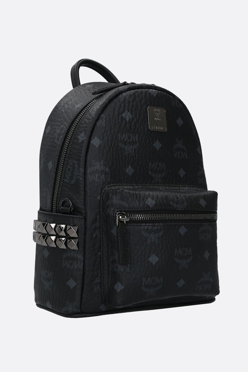 MCM: Stark mini coated canvas backpack Color Black_2