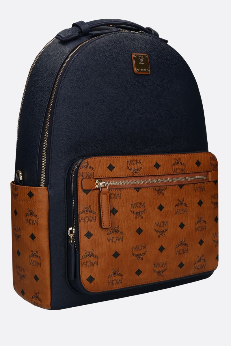 MCM: Stark backpack in grainy leather and coated canvas_2
