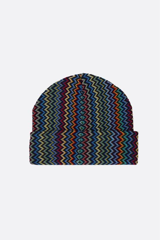 MISSONI: wool blend knit beanie Color Multicolor_2