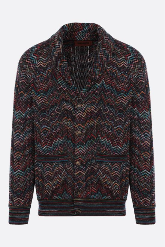 MISSONI: zigzag-pattern wool blend cardigan Color Multicolor_1