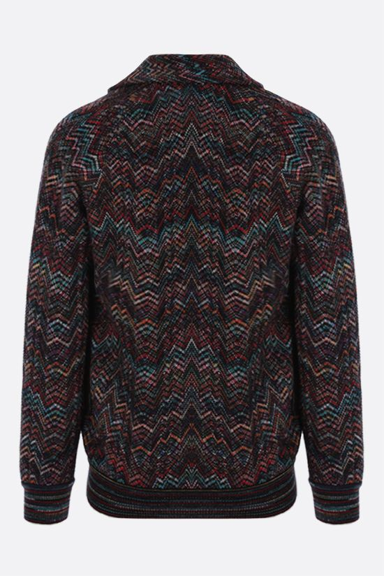 MISSONI: zigzag-pattern wool blend cardigan Color Multicolor_2