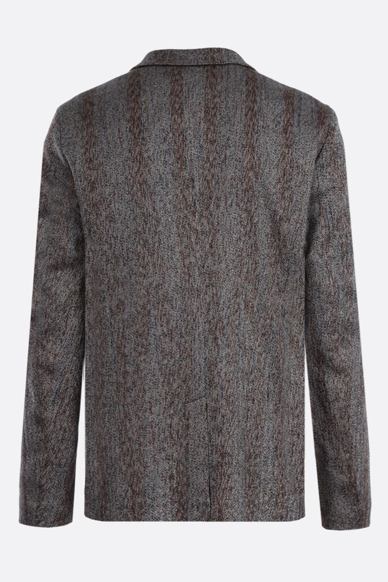MISSONI: herringbone wool cotton blend single-breasted jacket Color Neutral_2