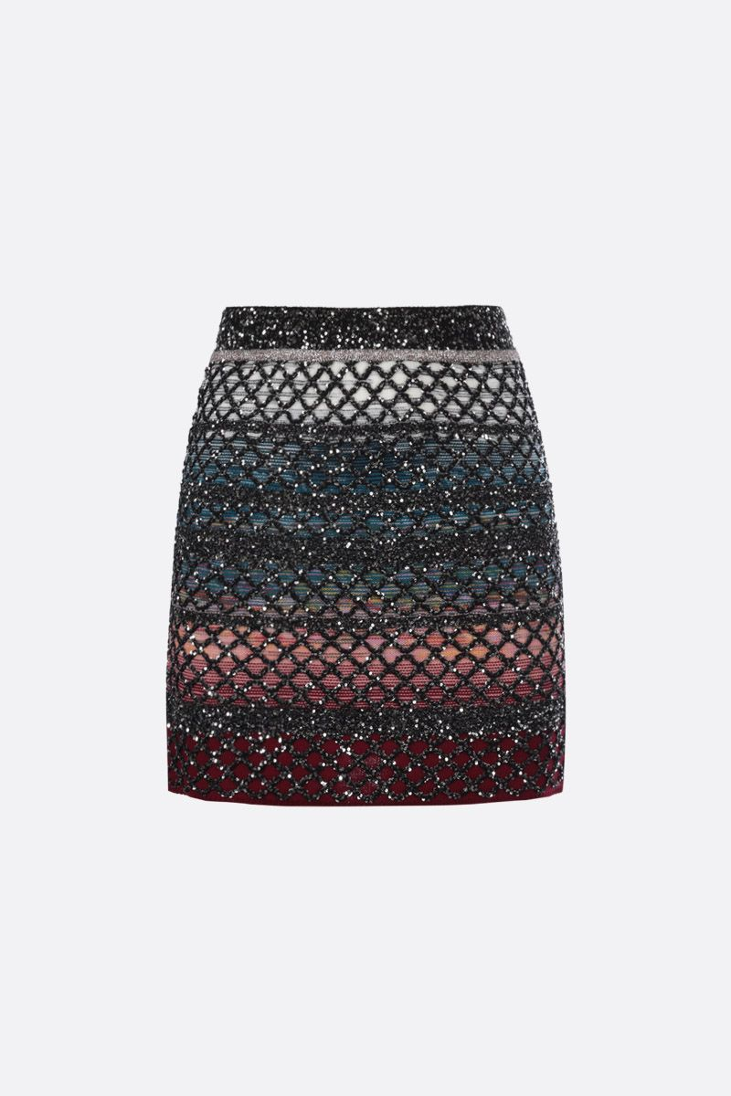 MISSONI: sequinned knit miniskirt Color Multicolor_1