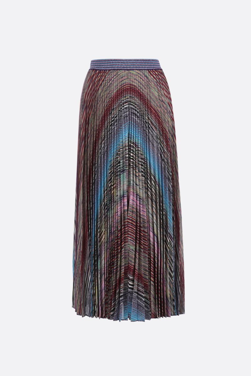 MISSONI: striped lightweight knit pleated skirt Color Multicolor_1