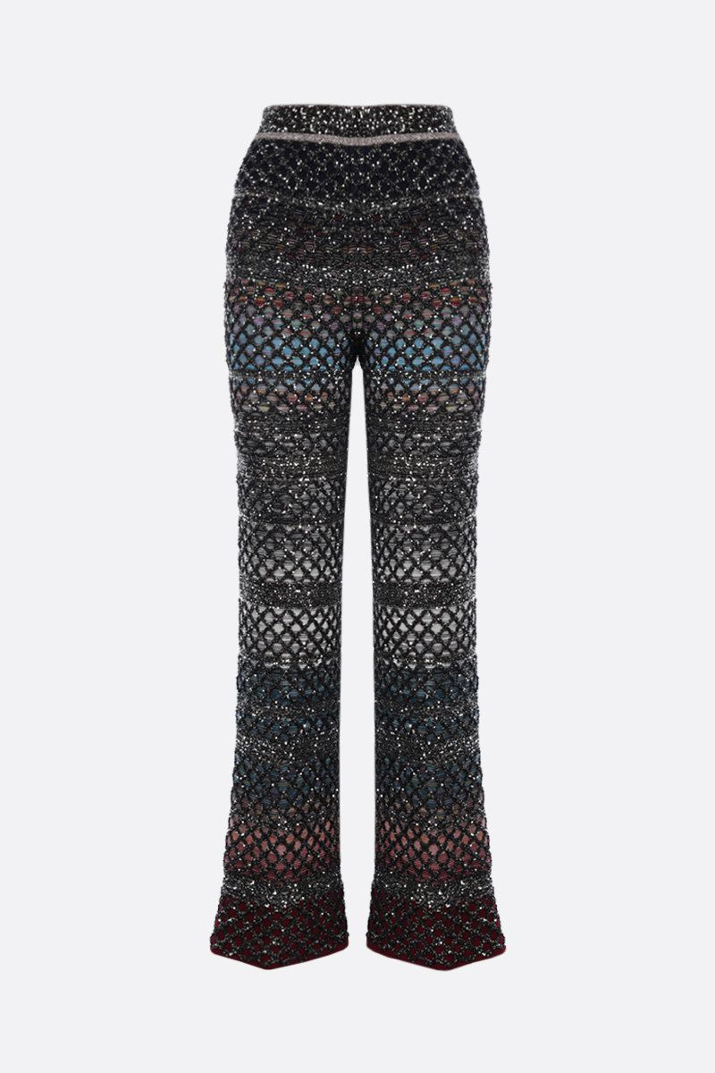 MISSONI: sequinned knit slim-fit pants Color Multicolor_1