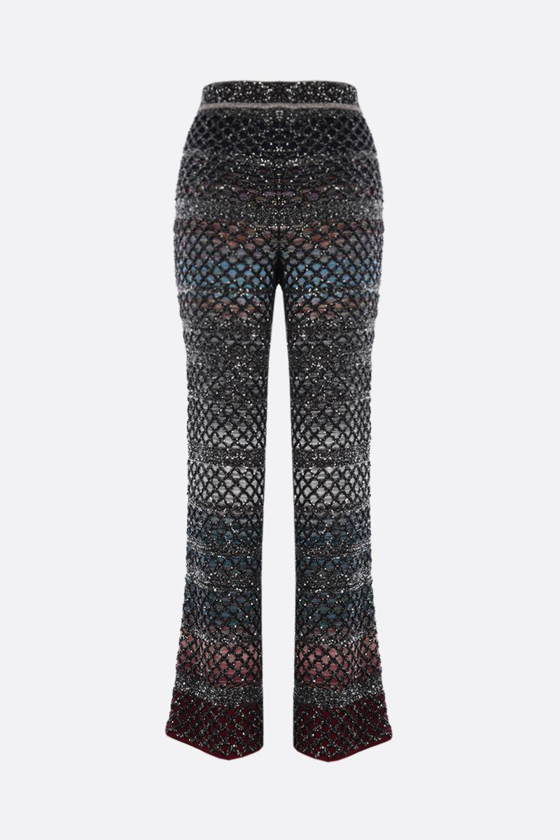 MISSONI: sequinned knit slim-fit pants Color Multicolor_2
