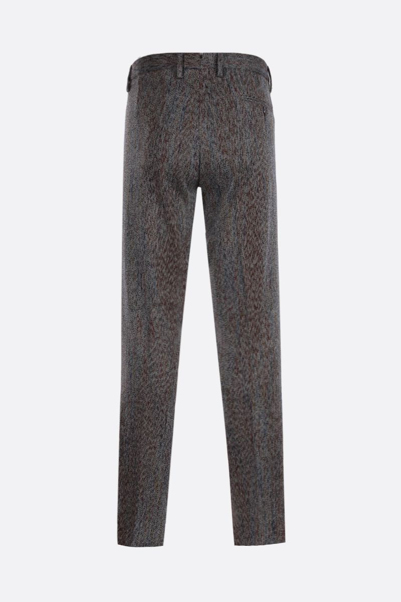 MISSONI: herringbone-motif wool cotton blend pants Color Multicolor_2