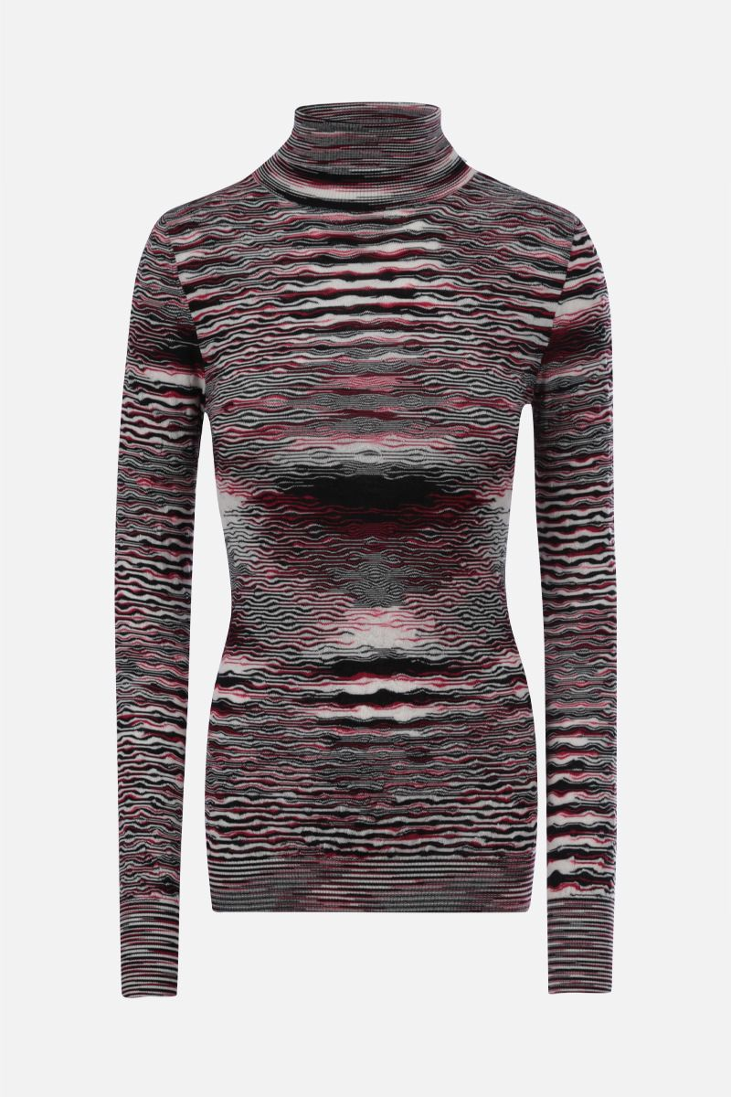 MISSONI: striped wool turtleneck Color Multicolor_1
