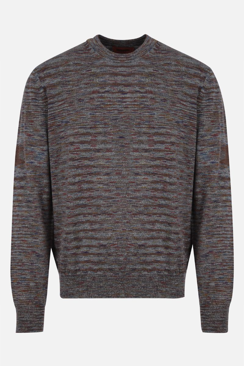 MISSONI: striped wool pullover Color Grey_1