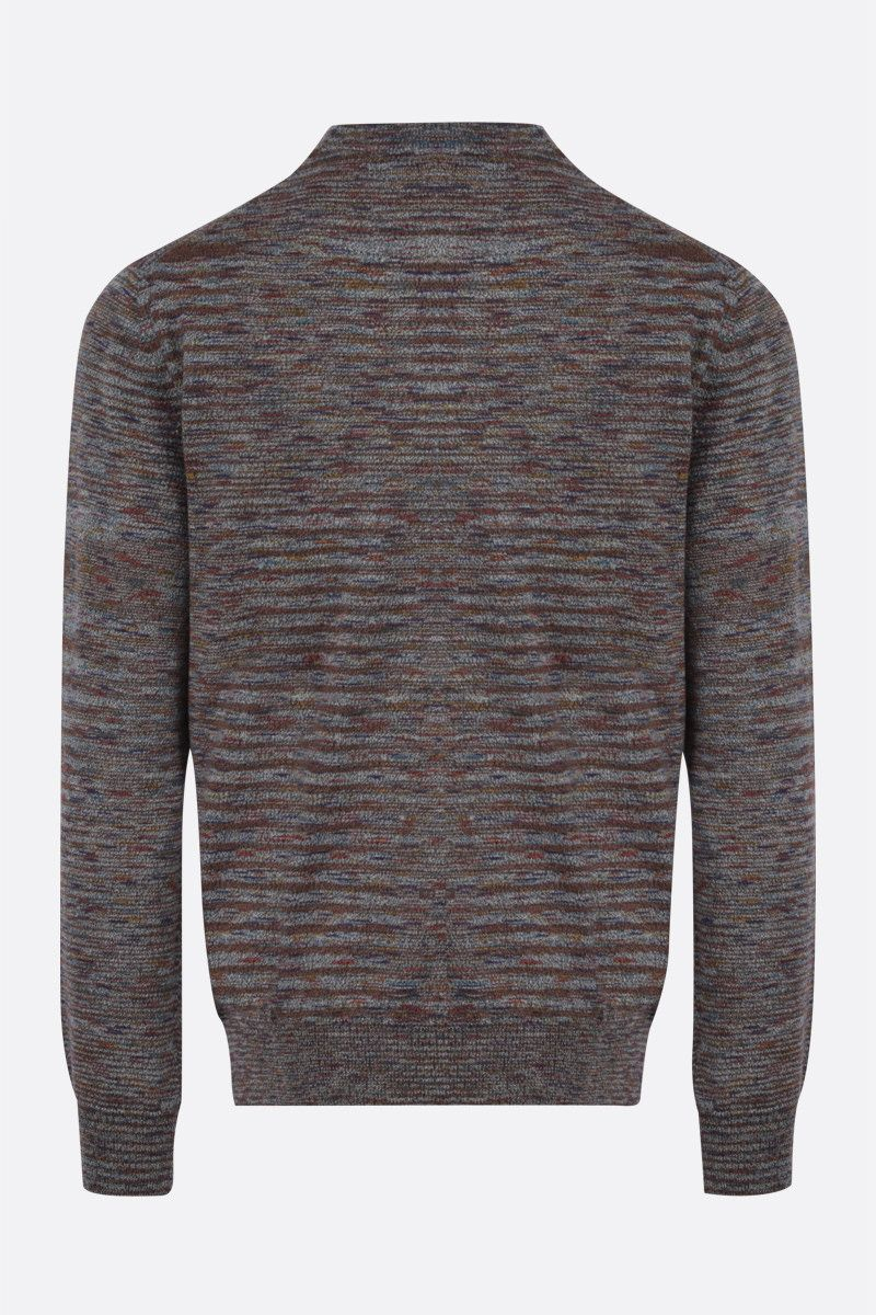 MISSONI: striped wool pullover Color Grey_2