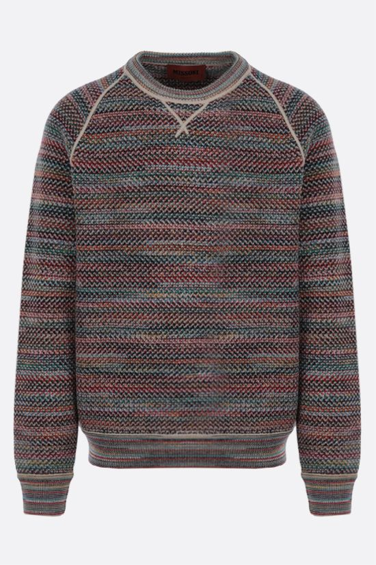MISSONI: striped wool blend pullover Color Multicolor_1