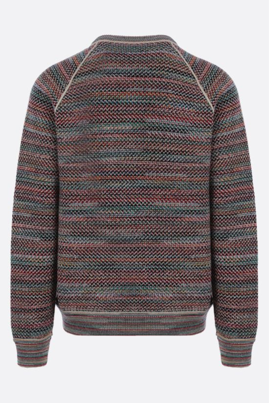 MISSONI: striped wool blend pullover Color Multicolor_2