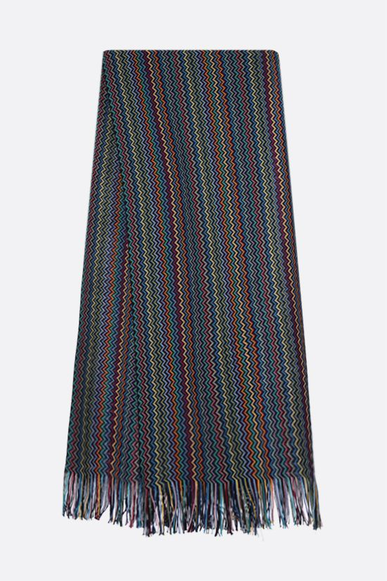 MISSONI: wool blend knit scarf Color Multicolor_2