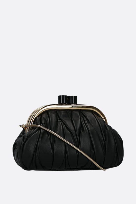 MIU MIU: quilted nappa chain clutch Color Black_2