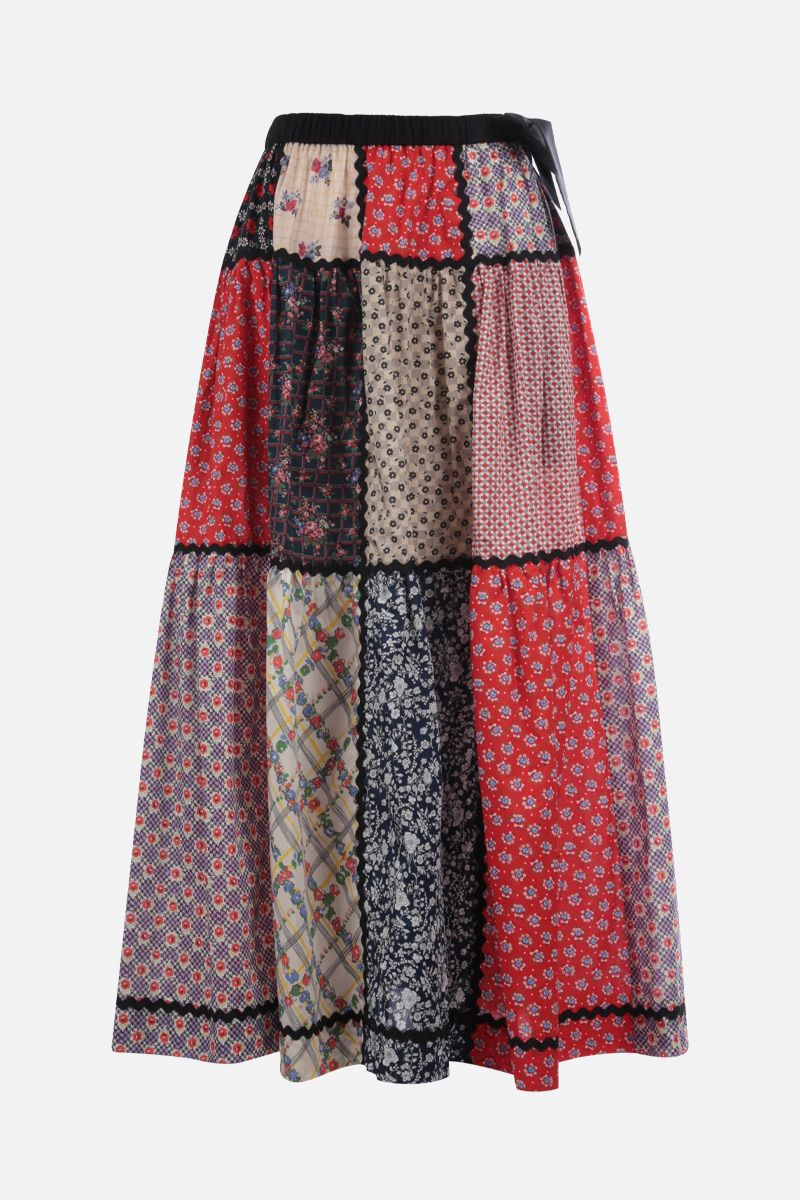 MIU MIU: patchwork cotton long dress_1