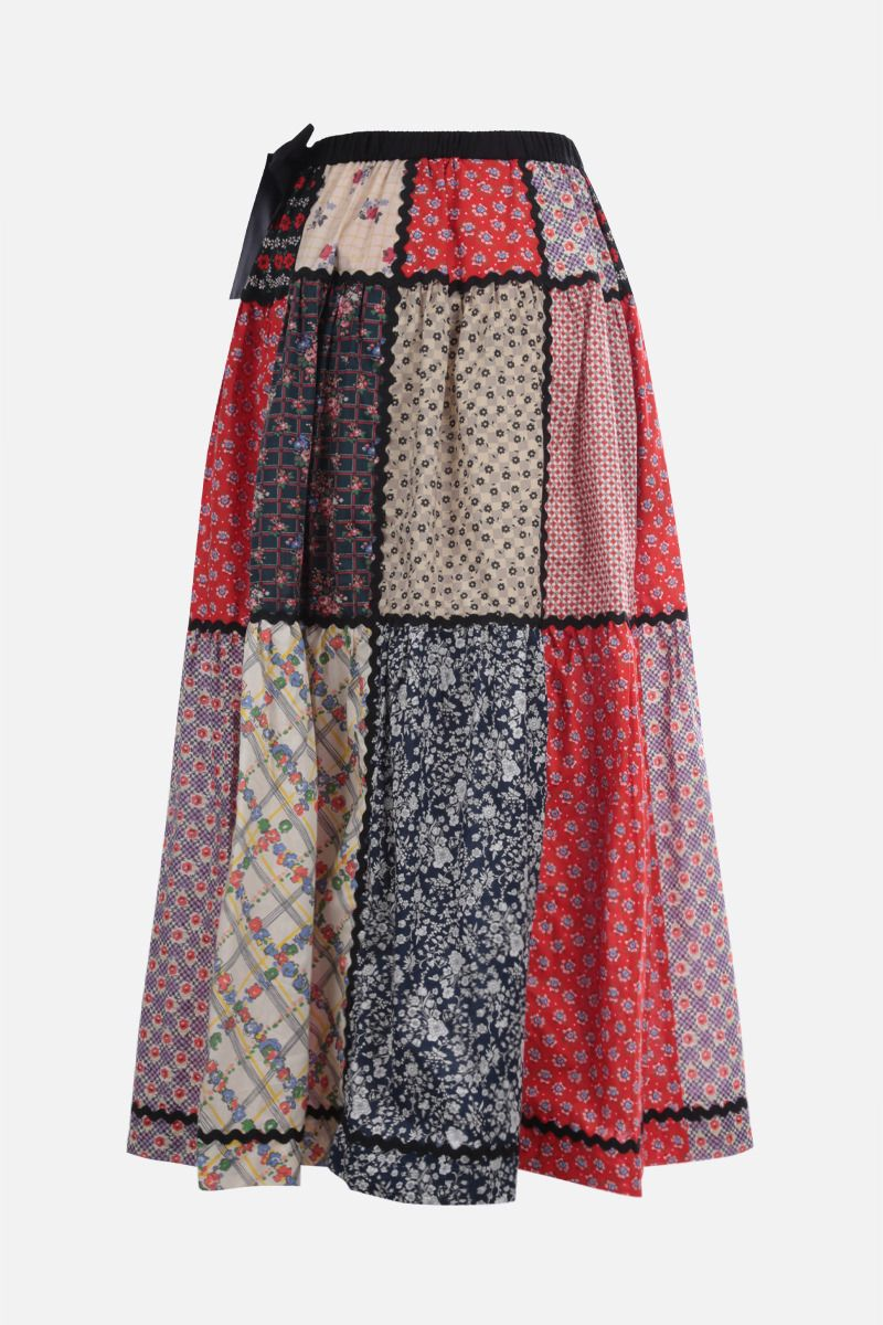 MIU MIU: patchwork cotton long dress_2