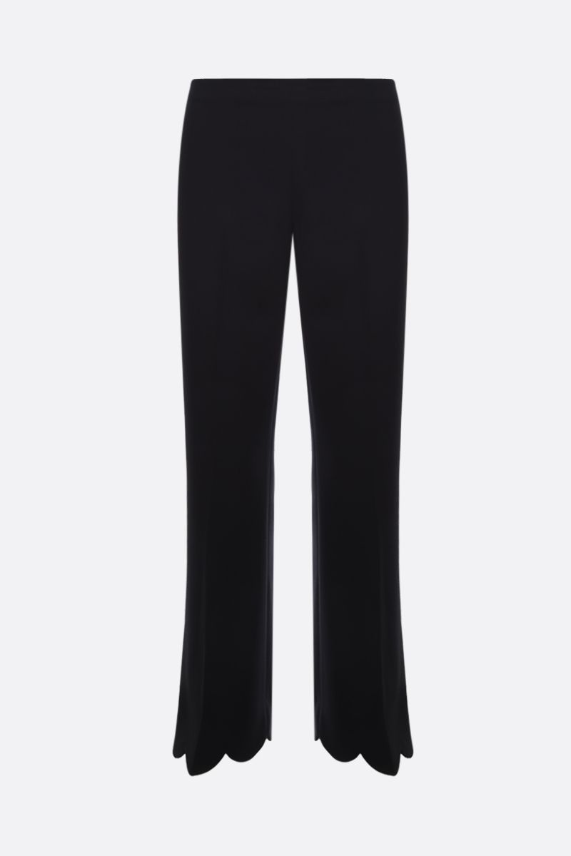 MIU MIU: scalloped trim cady cropped pants Color Black_1