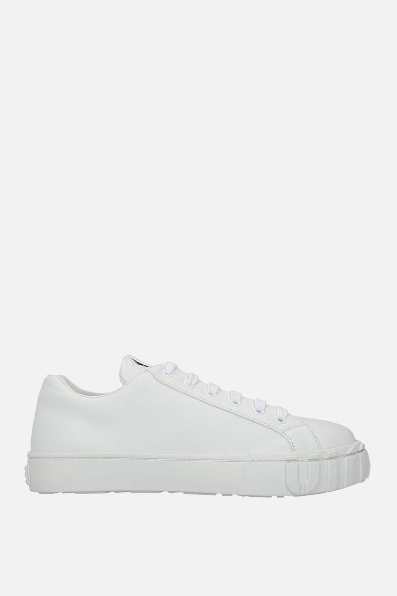 MIU MIU: smooth leather low-top sneakers Color White_1