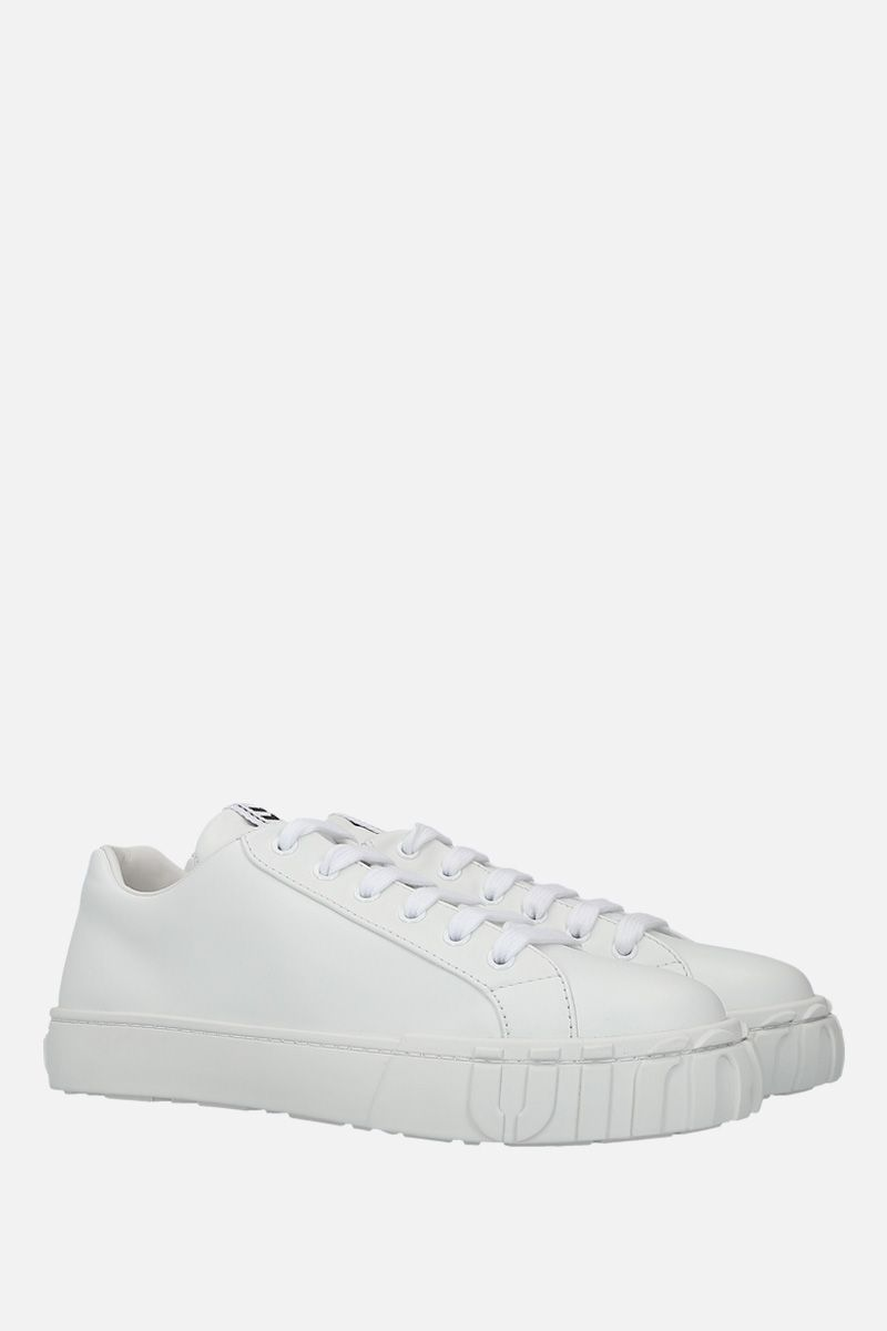 MIU MIU: smooth leather low-top sneakers Color White_2