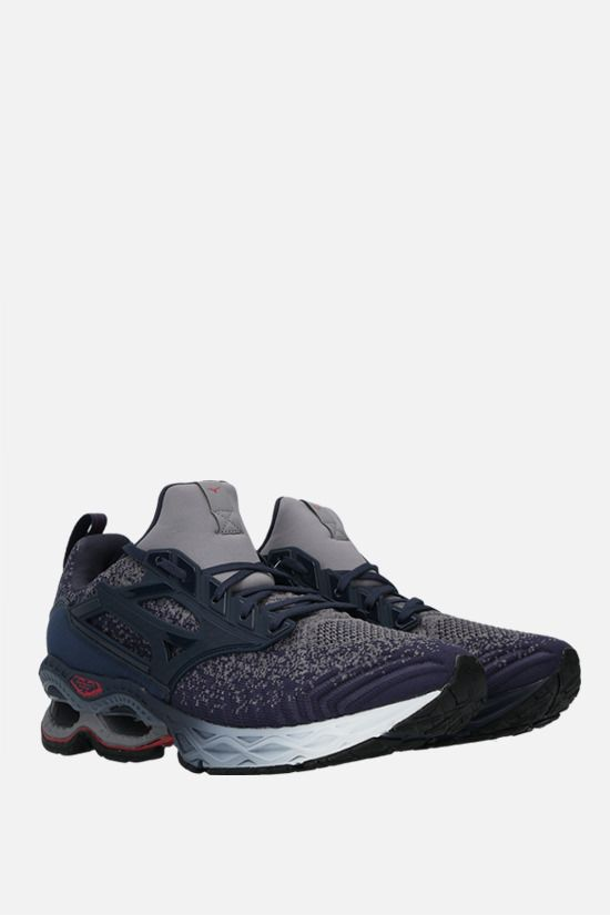 MIZUNO: Wave Cration Waveknit 2 stretch knit and neorpene sneakers Color Blue_2