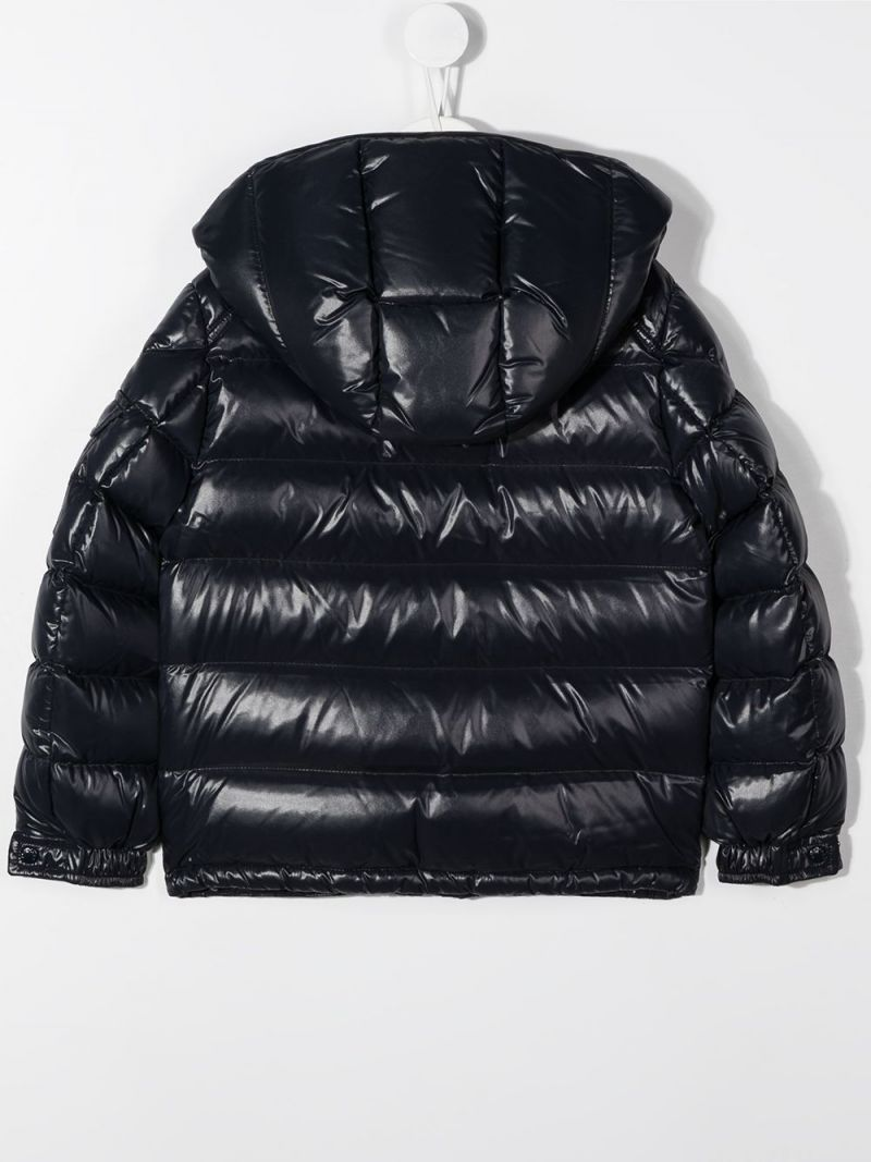 MONCLER KIDS: piumino New Maya in nylon laquè Colore Blu_2