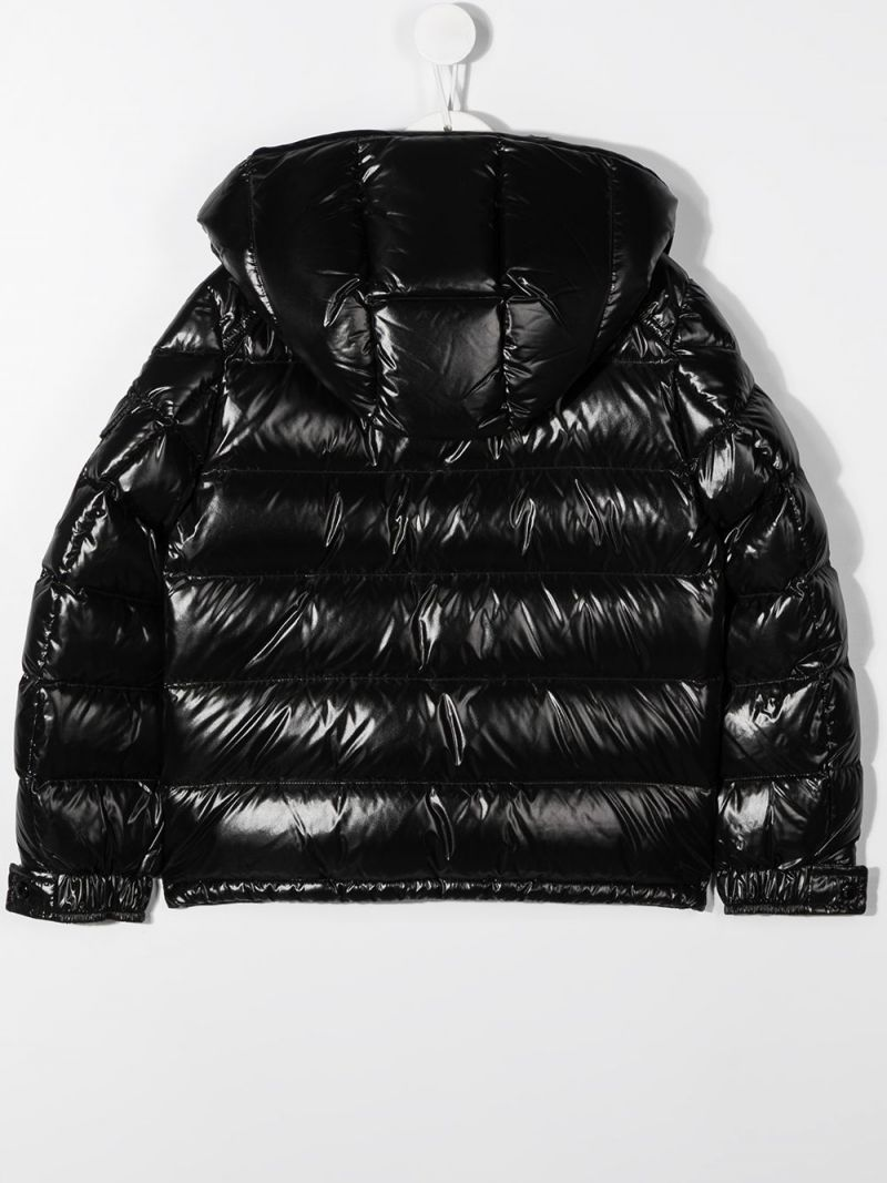 MONCLER KIDS: New Maya laquè nylon down jacket Color Black_2