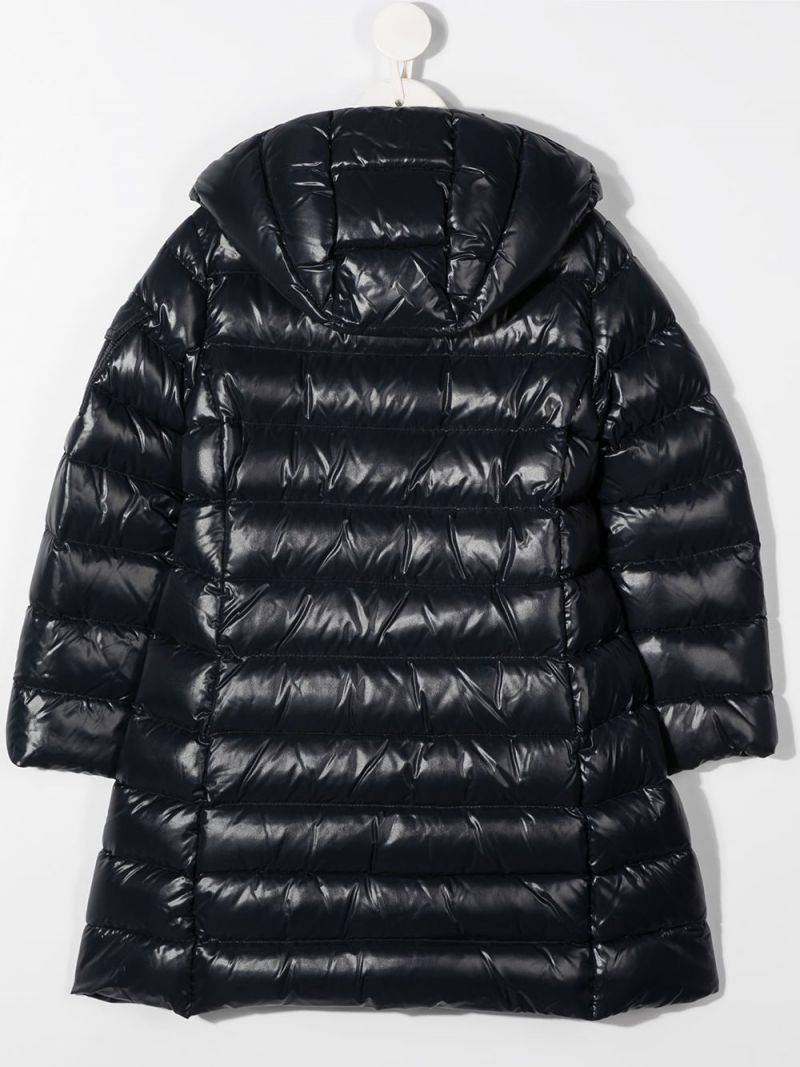 MONCLER KIDS: Bady shiny nylon down jacket Color Black_2