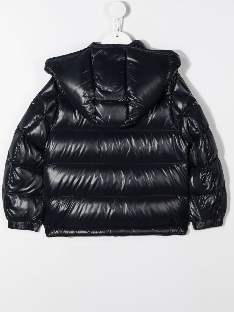 MONCLER KIDS: Dumon shiny nylon down jacket Color Blue_2