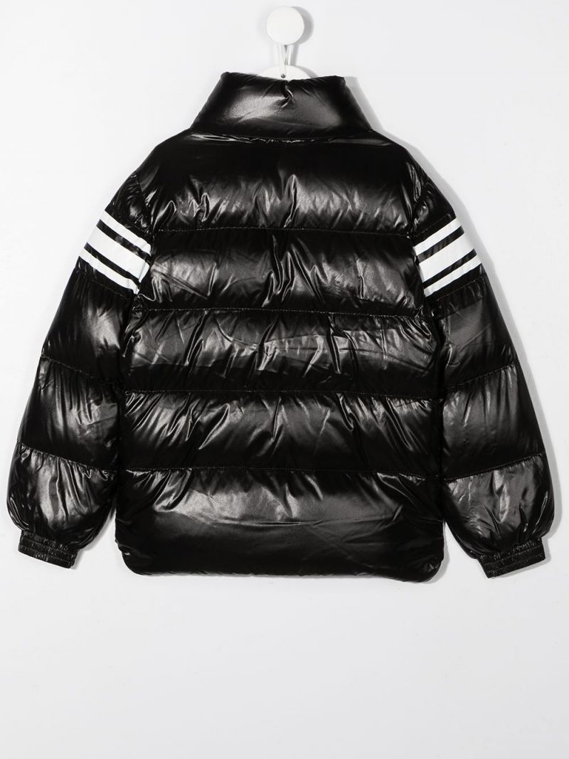MONCLER KIDS: Saise laquè nylon down jacket Color Black_2