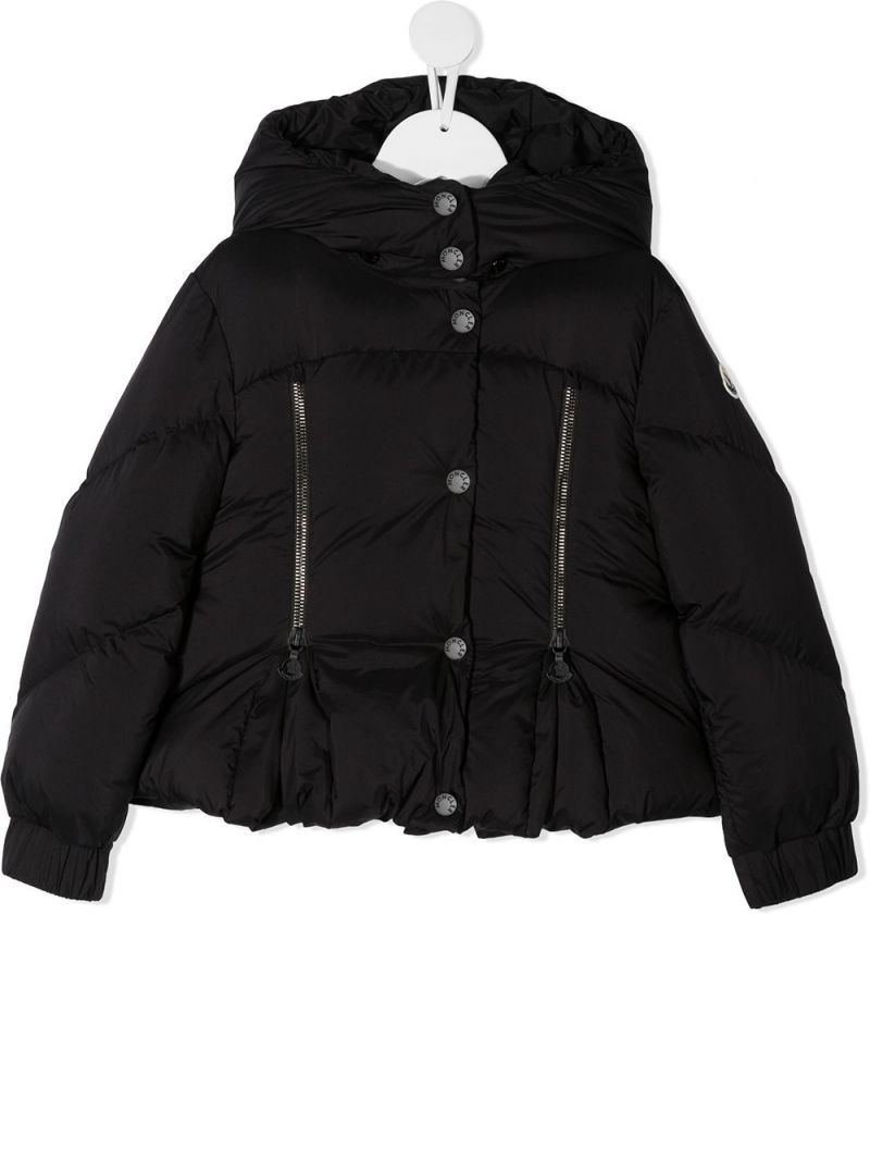 MONCLER KIDS: Catmint nylon down jacket Color Black_1