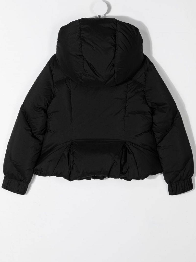 MONCLER KIDS: Catmint nylon down jacket Color Black_2