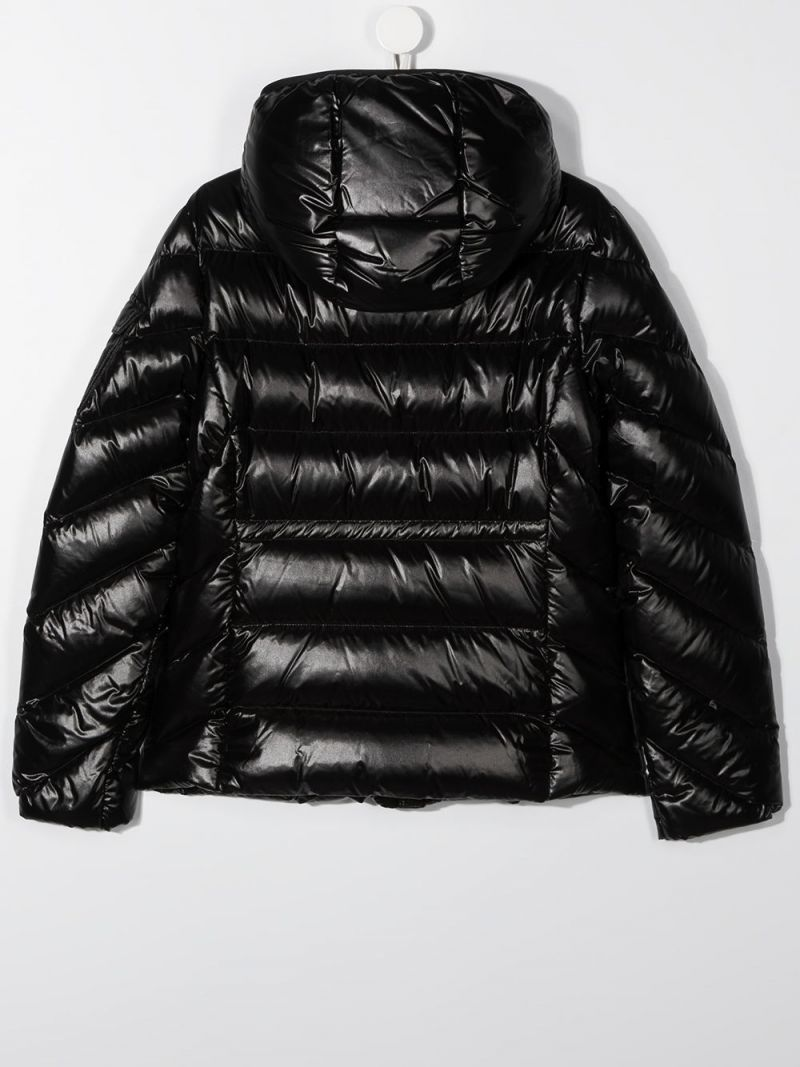 MONCLER KIDS: Brouel laquè nylon down jacket Color Black_2
