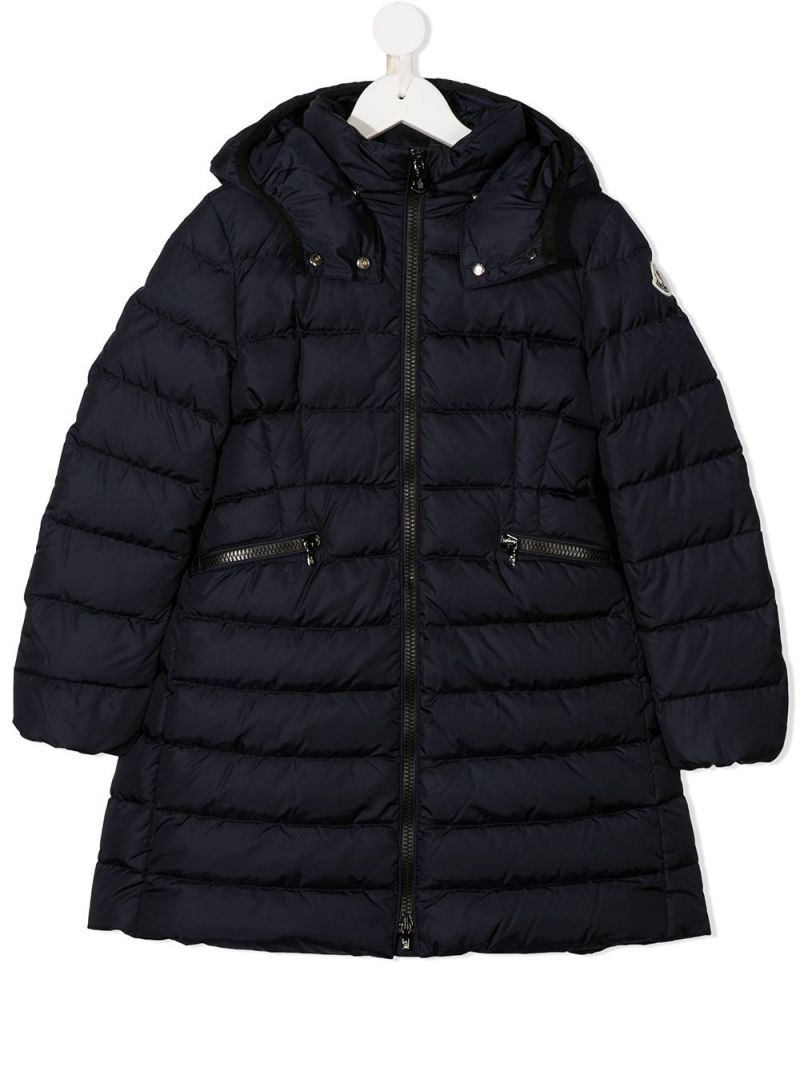 MONCLER KIDS: Charpal nylon down jacket Color Blue_1