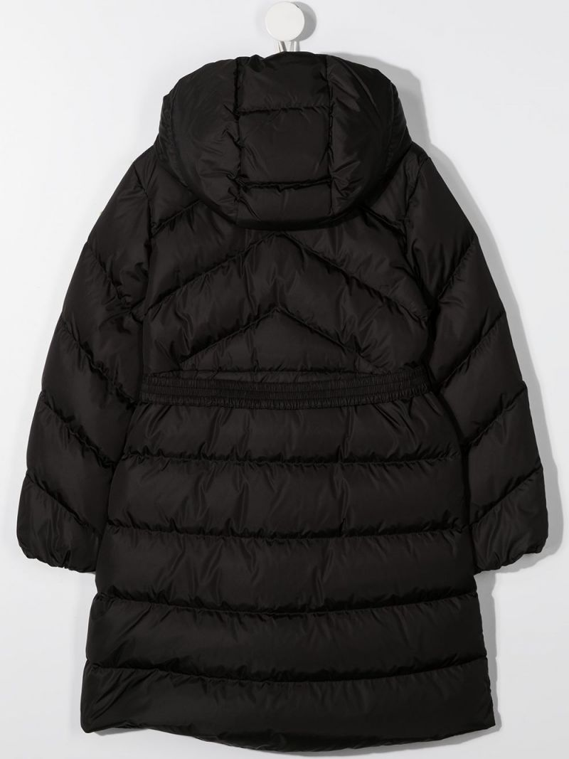 MONCLER KIDS: Agot nylon down jacket Color Black_2
