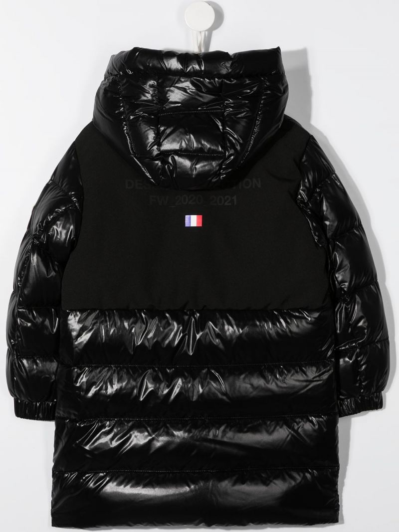 MONCLER KIDS: Berry laquè nylon down jacket Color Black_2