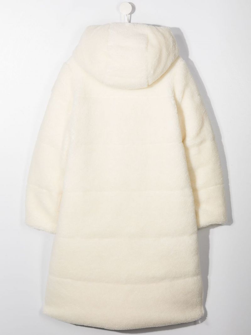 MONCLER KIDS: Bagaud faux fur down jacket Color White_2