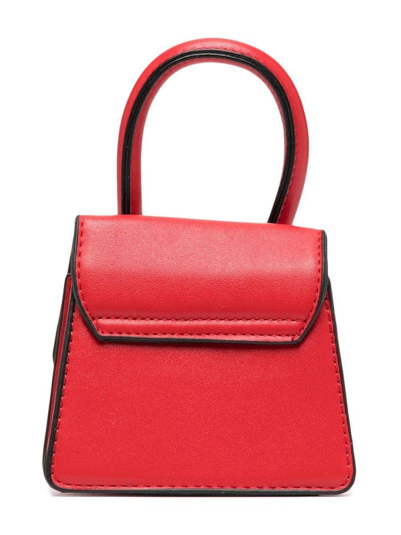 MONNALISA: logo-detailed faux leather handbag Color Red_2