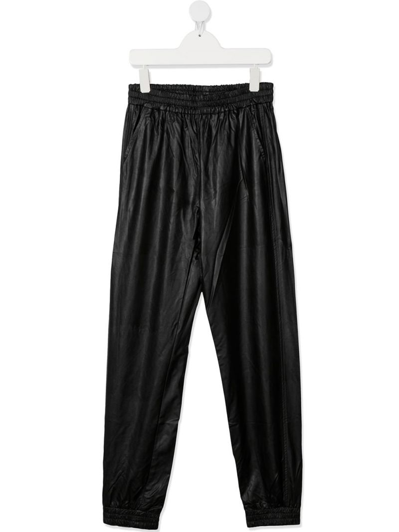 MONNALISA: technical fabric joggers Color Black_1