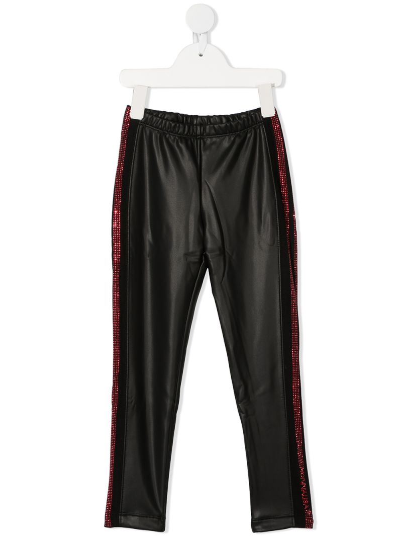 MONNALISA: faux leather biker pants Color Black_1