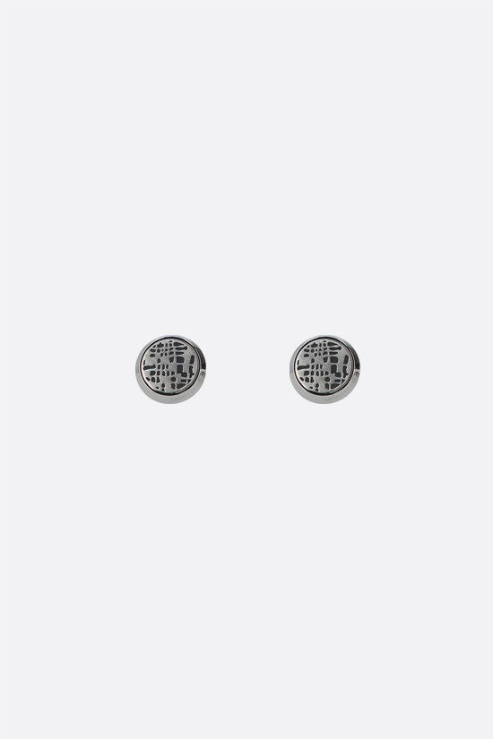 MONTBLANC: PVD dots pattern steel cufflinks Color Black_1