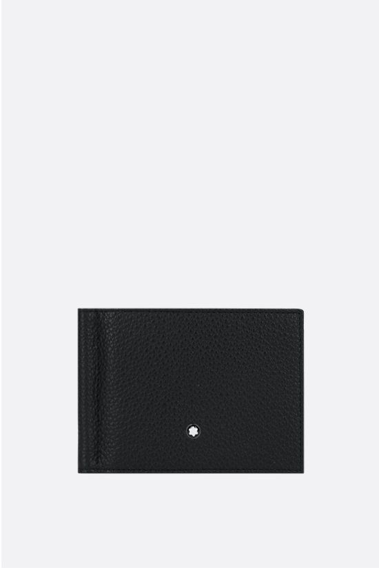 MONTBLANC: Meisterstück grainy leather wallet with money clip Color Black_1