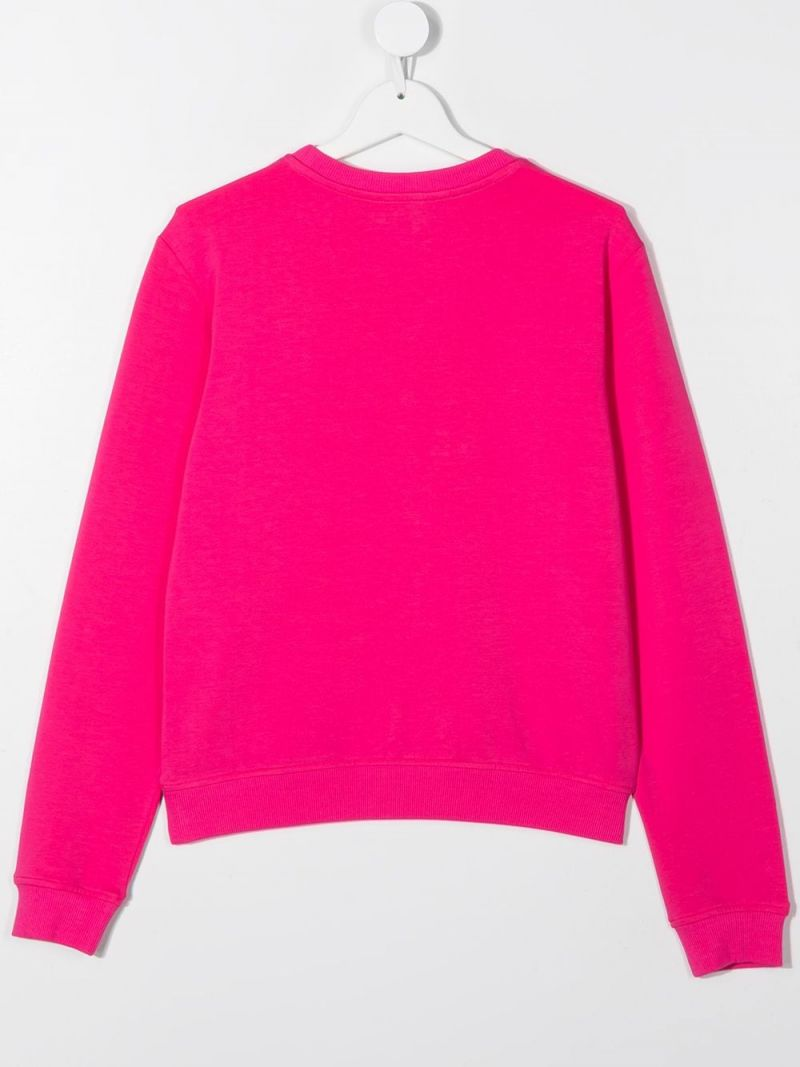 MOSCHINO KIDS: Chocolate Box Teddy stretch cotton sweatshirt Color Pink_2