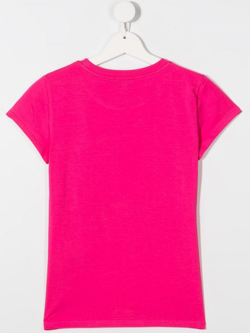 MOSCHINO KIDS: t-shirt in cotone stampa Moschino Teddy Bear Colore Rosa_2