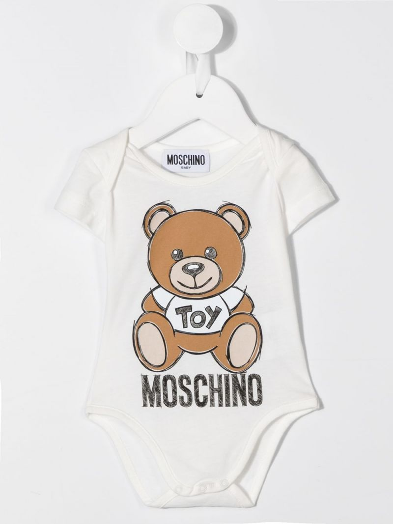 MOSCHINO KIDS: cotton two-playsuits set Color Pink_2