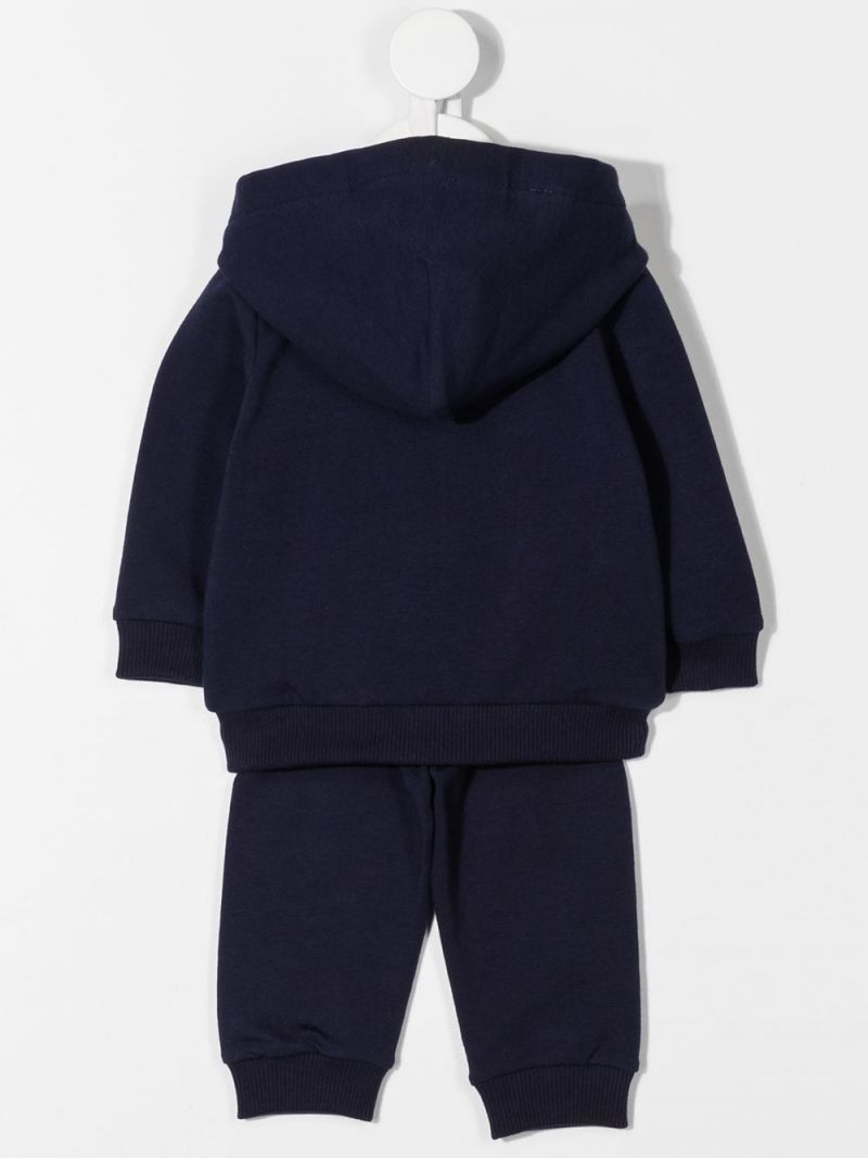MOSCHINO KIDS: Moschino Teddy Bear patch stretch cotton tracksuit Color Blue_2